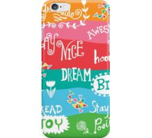 Woo Hoo Words iPhone Case/Skin