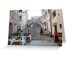 Dubrovnik steps Greeting Card