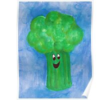Happy Broccoli Poster