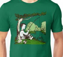 Retro Fishing Memories  - Vintage Illustration  Unisex T-Shirt