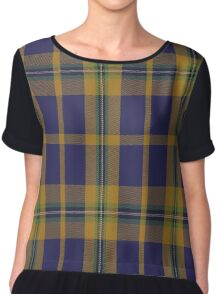 01413 College of New Caledonia Tartan  Chiffon Top