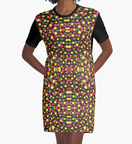 Valley Girl Dots Graphic T-Shirt Dress