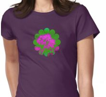 Funky Floral - JUSTART ©  Womens Fitted T-Shirt