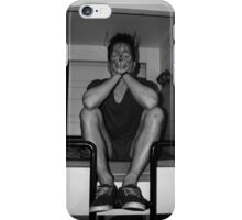 sitting in my own sadness iPhone Case/Skin