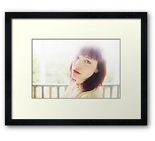 winged eyes and red hair..  Framed Print