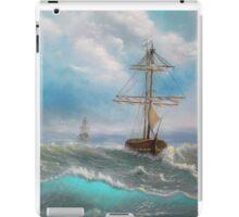 Ocean, Sea, Sailing, Fresh painting. iPad Case/Skin