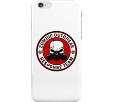 Zombie Outbreak Response Team Skull Gas Mask iPhone Case/Skin
