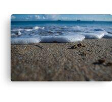 Foamy Shoreline  Canvas Print