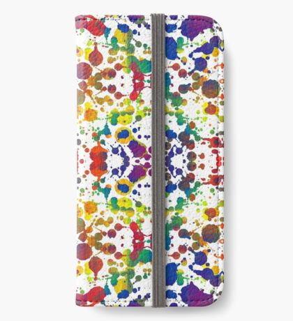 Rainbow Tears, White iPhone Wallet