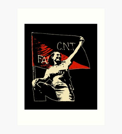 Anarchy Flag Woman - for dark backgrounds Art Print