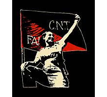 Anarchy Flag Woman - for dark backgrounds Photographic Print