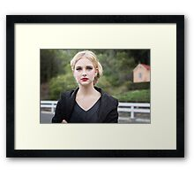 Waiting for a Train... Framed Print