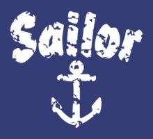Sailor Anchor White by theshirtshops