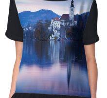 Lake Bled and the Island church Chiffon Top