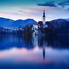Lake Bled and the Island church by Ian Middleton