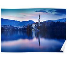 Lake Bled and the Island church Poster