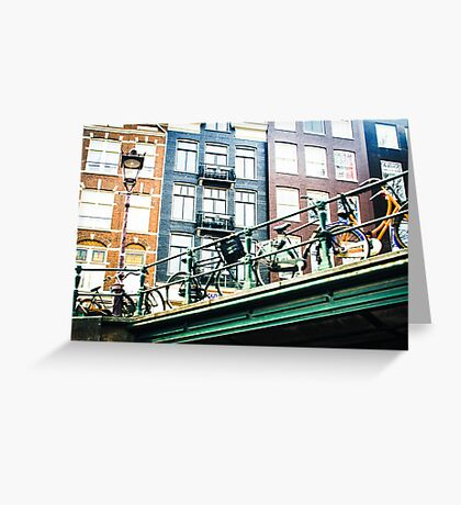 Amsterdam colored buildings  Greeting Card