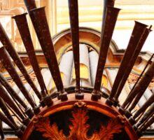 Organ pipes, Salzedas monastery, Portugal Sticker