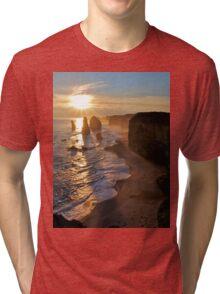 Sunset, Apostles Tri-blend T-Shirt