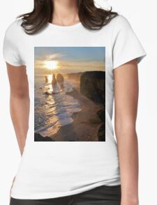 Sunset, Apostles Womens Fitted T-Shirt