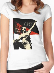 Anarchy Flag Woman - for bright backgrounds Women's Fitted Scoop T-Shirt