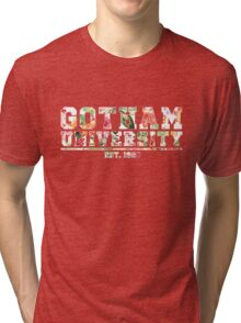 Gotham University Floral  Tri-blend T-Shirt