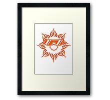 Sunglasses Cool Funny face sun Framed Print