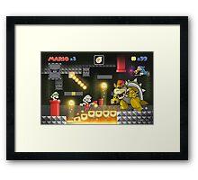 Mario's Super World: Bowser's Castle Framed Print