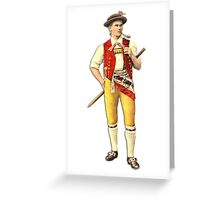 Swiss Cowherd from Appenzell Greeting Card