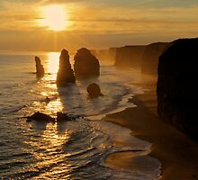 Glowing Sunset, 12 Apostles by Andrew Felton
