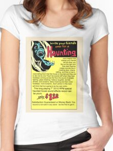 Invite your Friends Over For A Haunting! Women's Fitted Scoop T-Shirt