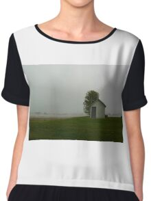 White house with tree Chiffon Top