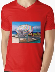 JULY 4TH BY THE POOL Mens V-Neck T-Shirt