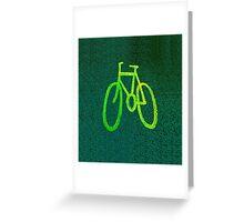 Cycle Lane - Green Greeting Card