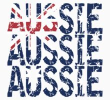 Aussie Aussie Aussie Flag One Piece - Short Sleeve
