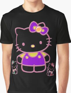 Cute Pink Funny Kitty  Graphic T-Shirt