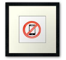 no telephones allowed Framed Print
