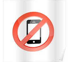 no telephones allowed Poster