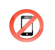 no telephones allowed Photographic Print