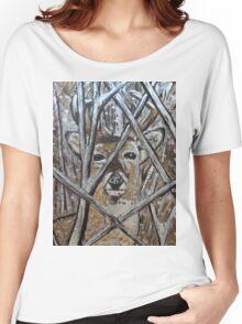 Deer Painting Design Women's Relaxed Fit T-Shirt