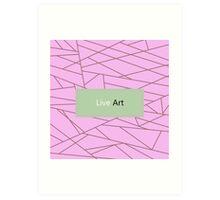 Sugar colored Fractal Art - Luxury Design Vintage Collection Art Print