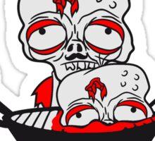 essen grill grillen zombie kochen koch chef meister grillen lecker hunger restaurant kochmütze schürze untot horror monster halloween  Sticker
