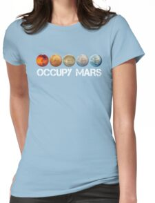 Occupy Mars Terraform Womens Fitted T-Shirt