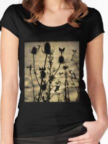 Teasel  Fairies Women's Fitted Scoop T-Shirt