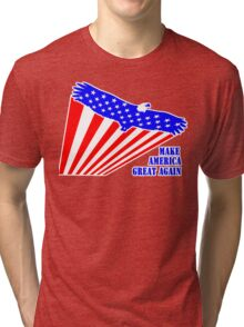 GREAT AMERICAN EAGLE  Tri-blend T-Shirt