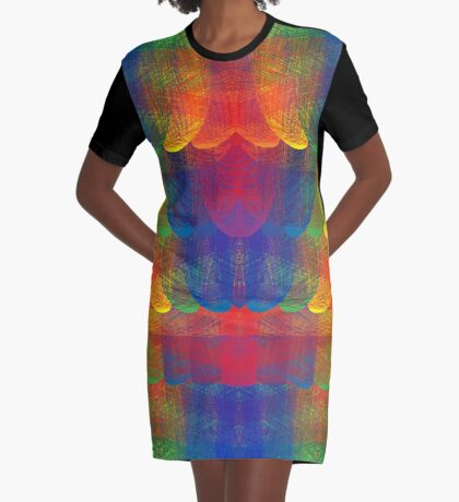 Rainbow Patch Graphic T-Shirt Dress