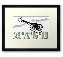 MASH Helicopter IN COMING Framed Print