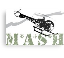 MASH Helicopter IN COMING Metal Print