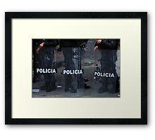 Police Riot Shields Framed Print