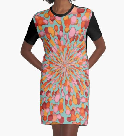 Confetti Burst Graphic T-Shirt Dress